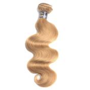 70cm Remy Virgin Hair Type Blonde Brazilian Hair Weave 27 Body Wave Hair Extension