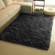 CAN_Ddeal Fluffy Anti-skid Shaggy Area Rug Yoga Carpet Home Bedroom Floor Dining Room Mat