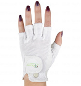 Quality Sports Ladies 2 Cool Half-Finger Golf Glove Small Right Hand