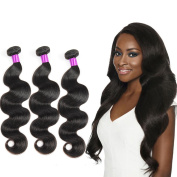 Brazilian Virgin body Hair 3 Bundles Body Wave 300g Unprocessed Natural Colour 100% Human Hair Extensions