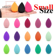 Dolovemk 2PCS Beauty Makeup Blending Sponges, Undereye/Eyelid Foundtion Applicator Wedges, Small Soft Flawless Semi-Egg Shaped Sponge, Size