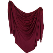 "Large Premium Knit Baby Swaddle Receiving Blanket ""Ruby"" by Copper Pearl"