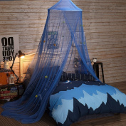 YOUOR Blue Star Mosquito Net Dome Bed Canopy Baby Bed Tents Netting