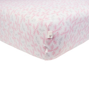 Burt's Bees Baby Bees and Leaves Fitted Sheet, Blossom, Crib