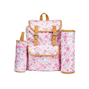 Laura Ashley Multi Piece Florar Backpack Nappy Bag