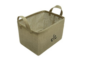 38cm Jute Storage & Organising Basket with Handles & Protective Lining by Trademark Innovations