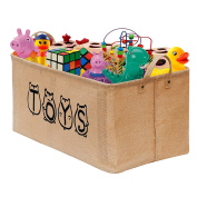 "Gimars XL 20"" Well Holding Shape Jute Toy Chest Baskets Storage Bins Organiser - Perfect for Organising Toy Storage, Baby Toys, Kids Toys, Dog Toys, Baby Clothing, Children Books, Gift Baskets"