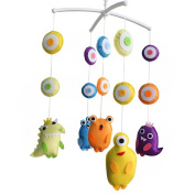 Baby Gift Creative Hanging Toys, Wind-up Musical Mobile [Monster], Colourful