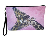 Giraffe Large Wristlet - From My Original Painting, Comfort - Support Wildlife Conservation, Read How