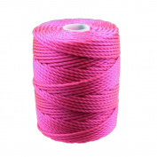 C-Lon Tex 400 Heavy Weight Bead Cord, Fluorescent Hot Pink - 1.0mm, 39 Yard Spool