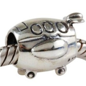 Plane/Aeroplane Charm 925 Sterling Silver Travel Flight Beads fit Fashion bracelets & Necklaces