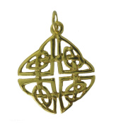 New 24K Gold Plated On Real Sterling Silver Celtic Infinity Knot Charm Pendant