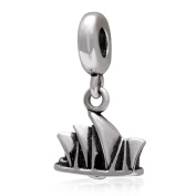 Sydney Opera House Charm 925 Sterling Silver Famous Building Charm Travel Charm Dangle Charm for Pandora Bracelet