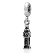 Bell Tower Charm 925 Sterling Silver Famous Building Charm Travel Charm Dangle Charm for Pandora Bracelet