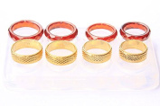 NEW! Clear silicone Ring mould.Faceted size (6)(7.5,)(8),(9).Gold-(7)(8)(9.5)(9.75)