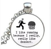 Running Jewellery - Running Quote Jewellery - Glass Pendant Running Jewellery