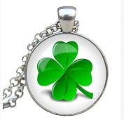 CLOVER NECKLACE Clover Pendant Clover Jewellery Green Necklace for him Art Gifts for Her saint patricks day