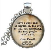 Necklace Lewis Carroll pendant