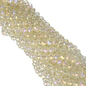 70pcs/lot 8mm White Opal AB Colours Faceted Rondelle Glass String Beads for Jewellery Making