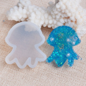 1pc Silicone DIY Tools Resin Mould Jellyfish Animal White Mould 37mm x 32mm