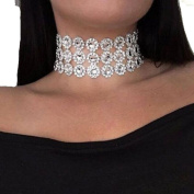 Personality Shiny neck crystal necklace