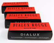 jewellers ROUGE DIALUX RED ROUGE BUFFING GOLD jewellery POLISHING COMPOUND 4 BARS