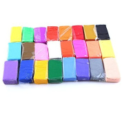 24Pcs Colourful Fimo Effect Polymer Clay Blocks Soft Moulding Craft Creative Fun Best gift for Children