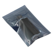 100 Pcs 6x9cm (2.4x3.5 inch) Resealable Anti Static Hard Drive Bags ESD Antistatic Shielding Plastic Bags Zip Lock Self Seal SSD HDD Sensitive Electronic Tool Pouch Thickness Surface Resistance