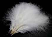 50PCS 8~15CM 50PCS White Fire chicken-feather for Home Wedding Party DIY Decor Crafts