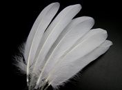 15~22CM 50PCS White Goose Feather for Home Wedding Party DIY Decor Crafts