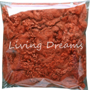 FELTING WOOL with CURLY LOCKS for Needle Felting, Spinning, Doll Hair and Embellishments - Sienna