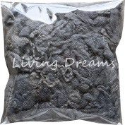 FELTING WOOL with CURLY LOCKS for Needle Felting, Spinning, Doll Hair and Embellishments - Slate