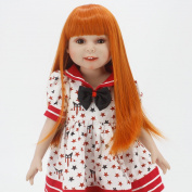 Wigs Only! Heat Resistant Synthetic Hair Wigs for 46cm American Girl Dolls,Reborn Dolls with 25cm - 28cm Head Doll Accessories