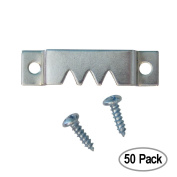 Heavy Picture Hangers - Heavy Sawtooth Hangers with Screws - 50 Pack - Picture Hang Solutions