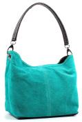 Aossta Ladies Real Italian Suede Leather Large Shoulder Handbag Tote Bag