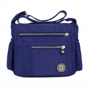 Leisure Women Waterproof Nylon Messenger Bags Cross Body Shoulder Bags Casual Multi Pocket Handbag Tote Purse Handbag
