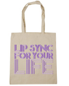 HippoWarehouse Lip sync for your life Tote Shopping Gym Beach Bag 42cm x38cm, 10 litres