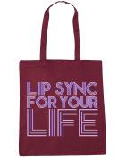 HippoWarehouse Lip sync for your life Tote Shopping Gym Beach Bag 42cm x38cm, 10 litres