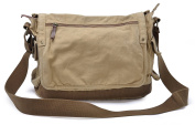 Gootium 30622KA Classic Canvas Shoulder Bag - Fits Laptops Up To 40cm ,Khaki