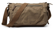 Gootium 30622AMG Classic Canvas Shoulder Bag - Fits Laptops Up To 40cm ,Army Green