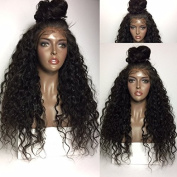 Alaxo Hair Deep Curly Full Lace Human Hair Wigs For Black Women Natural Colour Brazilian Virgin Hair 130% Density With Baby Hair