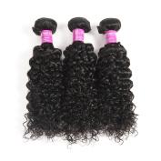 Soft feel hair 25cm - 70cm Malaysian curly hair 3 bundles curly hair weave remy human hair extensions wavy black colour 14 16 46cm