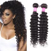 Wome Hair Virgin Brazilian Deep Wave Hair Weave 3 Bundles 7A Unprocessed Remy Human Hair Weave Extensions Natural Black Hair Colour