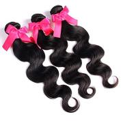 BeautyGirl Hair Brazilian Body Wave Hair 3Pcs Lot Mix Length Brazilian Virgin Human Hair Extensions