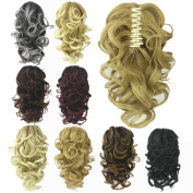 Deniya Short Hair Pieces Ponytail Claw in Hair Extension Short Curly Synthetic