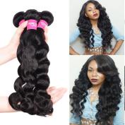 Wome Hair 7A Grade 100% Unprocessed Brazilian Loose Deep Wave Virgin Human Hair Extension 3 Bundles