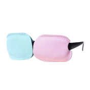 Kloud City Pack of 2 Microfiber Eye Patch for Glasses to Treat Lazy Eye / Amblyopia / Strabismus