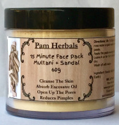 Pam Herbals Multani Mitti + Sandal Natural Skin Care 60g Powder 15 Minute Face Pack