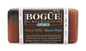 "Bogue Goat Milk Soap- No32 WELLNESS- ""Detox"" Blend- Activated Charcoal and Diatomaceous Earth draw out toxins, Grapefruit & Juniper improve circulation and potent antioxidants Clove & Tea Tree"