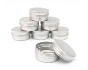 6PCS Balm Nail Art Cosmetic Cream Make Up Pot Lip Jar Tin Case Box Holder Bottle Container Screw 10ml/15ml/30ml/50ml/100ml Capacity (Empty) for DIY Cosmetics/Beauty Products